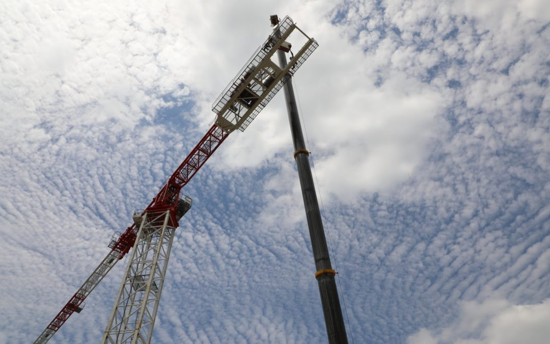 Construction Update – Tower Crane Erection is successfully finished