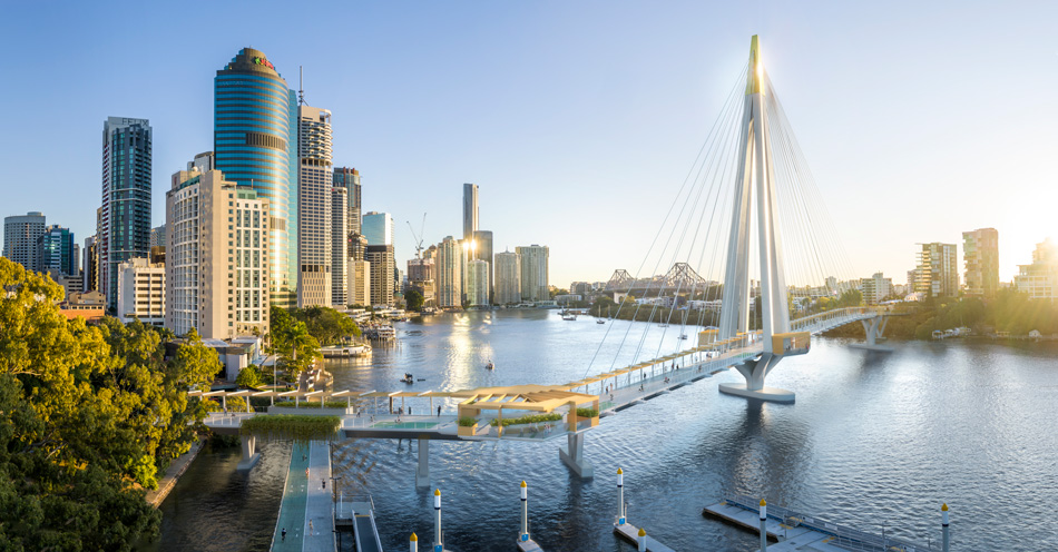Brisbane's new Green Bridge